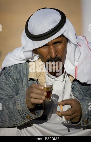 portrait of a Bedouin male in Egypt - Stock Photo