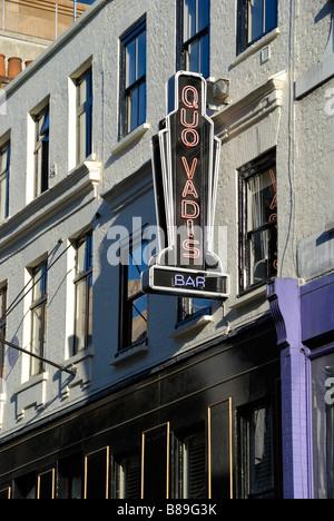Quo Vadis restaurant in Dean Street Soho London - Stock Photo