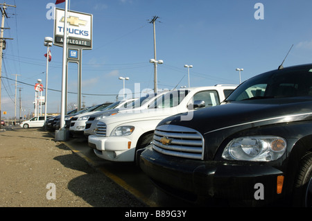 unsold cars and trucks stock photo 5981349 alamy. Black Bedroom Furniture Sets. Home Design Ideas