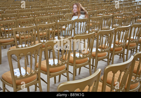 An audience of one. Gorton Monastery, Gorton, Greater Manchester, United Kingdom. - Stock Photo