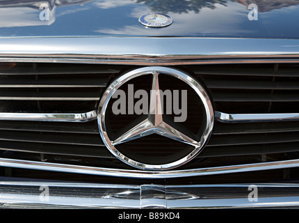 Mercedes Benz radiator grille and badge - Stock Photo