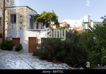 House with big terrace in Lefkara, South Cyprus - Stock Photo