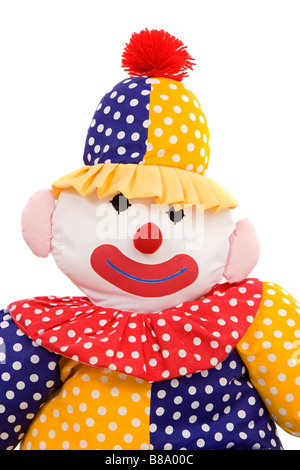 Rag doll clown on a white background - Stock Photo