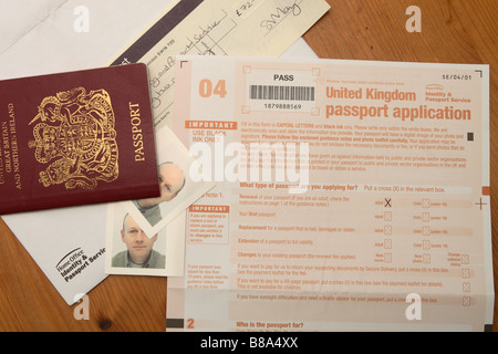 British Passport With Application Form Stock Photo 66518057 Alamy