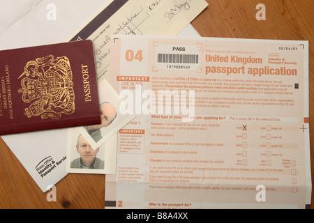 Passport Photograph For Application Stock Photo 24720287 Alamy