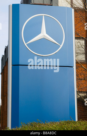 Mercedes Benz Car Dealers Retailers Sign - Stock Photo
