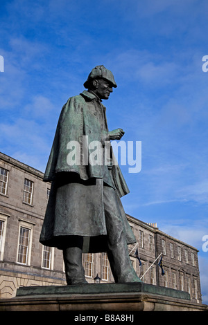 Sherlock Holmes statue, Picardy Place, Edinburgh, Scotland, UK, Europe - Stock Photo
