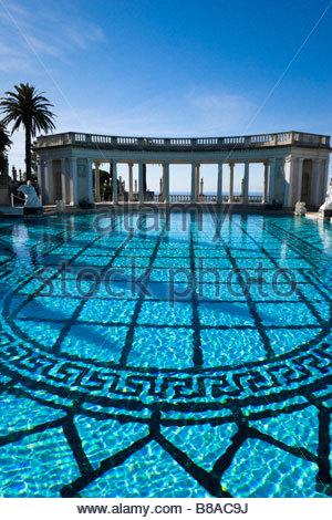 Neptune Pool Hearst Castle San Simeon California - Stock Photo