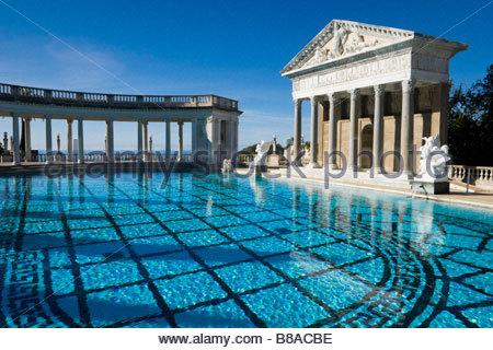Hearst Castle Neptune Pool San Simeon California - Stock Photo