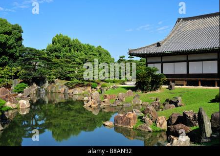Ninomaru Garden, Nijo jo, Kyoto, Japan - Stock Photo