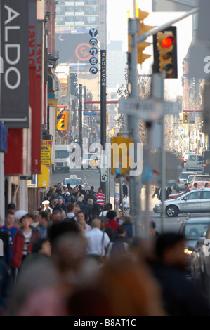 Busy Yonge Street, Toronto,Ontario - Stock Photo