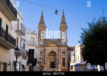 Church of Saints Cosmos and Damian Alberobello Puglia Italy - Stock Photo