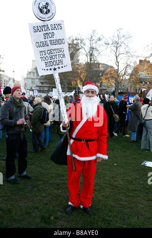 Campaign Against Climate Change, national climate march in London on December 6th 2008. - Stock Photo