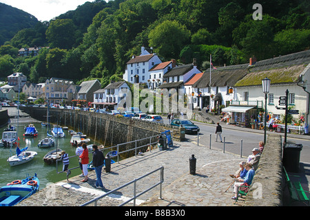 Lynmouth harbour, North Devon, England, UK - Stock Photo