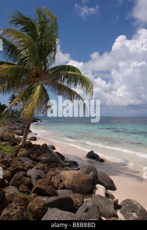 The beach at Sally Peachie, Big Corn, Corn Islands, Nicaragua - Stock Photo
