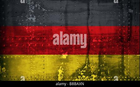 Grunge German flag - Stock Photo