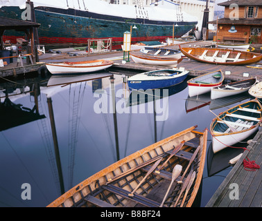 WASHINGTON - The Center for Wooden Boats on Lake Union in downtown Seattle. - Stock Photo