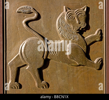 Lion Door of the President's Office in Sofia, Bulgaria - Stock Photo