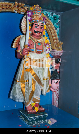 Sri Mariamman Hindu Temple Chinatown Singapore - Stock Photo