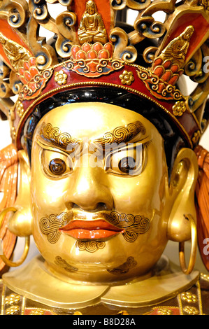 Statue at Po Lin Monastery Ngong Ping Lantau Island Hong Kong - Stock Photo