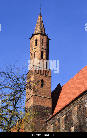 St Vincent and St James church, Wroclaw, Poland - Stock Photo