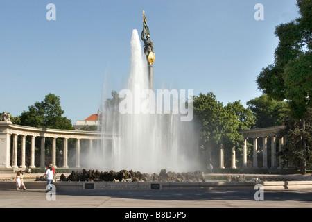 Hochstrahlbrunnen, Vienna, Austria - Stock Photo