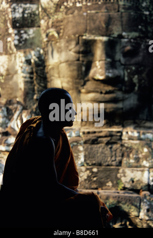 Monk Temples  Angkor, Cambodia - Stock Photo