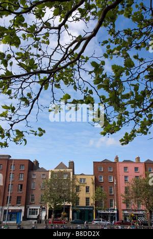Looking over the River Liffey to Bachelors Walk, Dublin, Ireland - Stock Photo