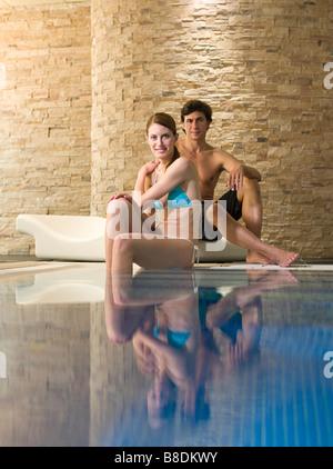 Couple at a health spa - Stock Photo
