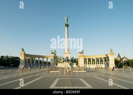 Heroes square budapest - Stock Photo