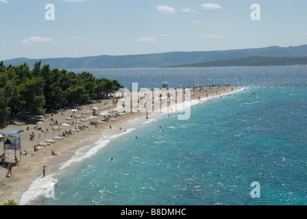 Zlatni rat beach brac croatia - Stock Photo