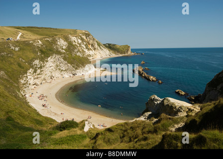 Lulworth cove dorset - Stock Photo
