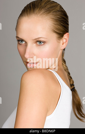 Portrait of a beautiful young woman - Stock Photo