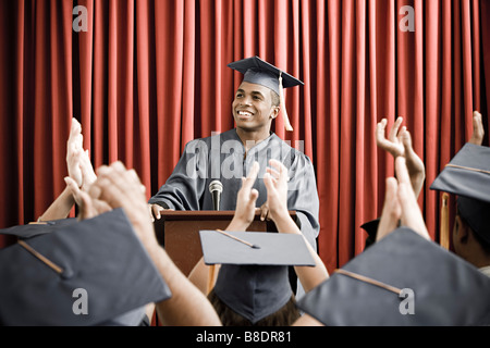 Graduate giving speech - Stock Photo