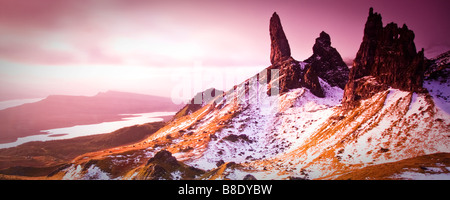 The Old Man of Storr Panoramic, Isle of Skye, Scotland - Stock Photo