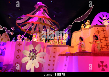 Interior of Its a Small World ride at Disneyland California - Stock Photo