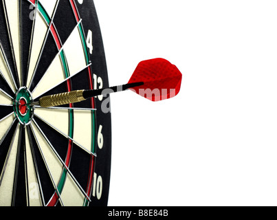 Darts and Dart Board - Stock Photo