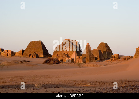 pyramids of meroe - Stock Photo