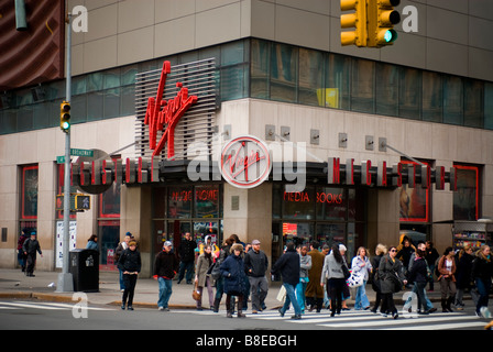 The Virgin Megastore in Union Square on Broadway in New York on Thursday February 12 2009 Richard B Levine - Stock Photo