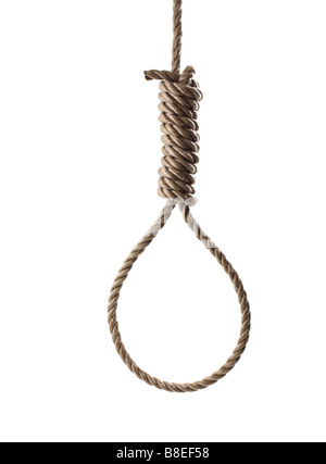 Rope in shape of a Hangman's Noose - Stock Photo