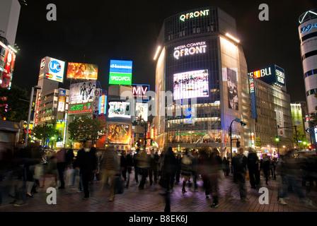 Shibuya crossing hachiko square tokyo japan asia - Stock Photo