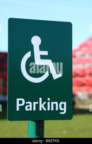 A disabled parking bay. - Stock Photo