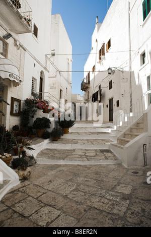 White washed buildings Ostuni Puglia Italy