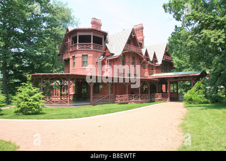 Mark Twain's house in Hartford Connecticut for Editorial use only - Stock Photo