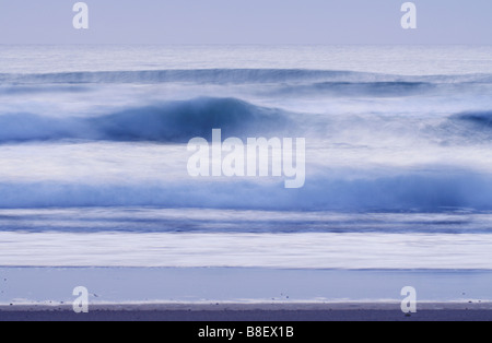 Waves on the Atlantic Ocean, Cadiz, Spain - Stock Photo