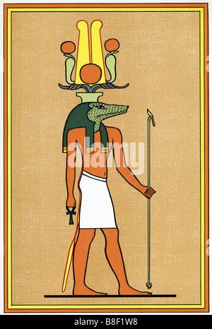 Egyptian God Sebek Ra - Stock Photo