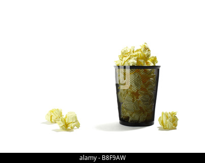 Overflowing Trash Can - Stock Photo