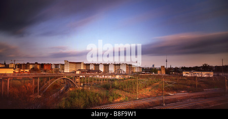 berlin wall border bornholmer strasse germany - Stock Photo