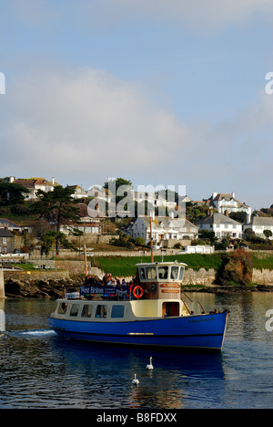 Duchess of Cornwall ferry at St Mawes, Cornwall, England - Stock Photo