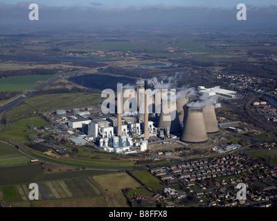 Ferrybridge Coal Fired Power Station, West Yorkshire, Northern England - Stock Photo